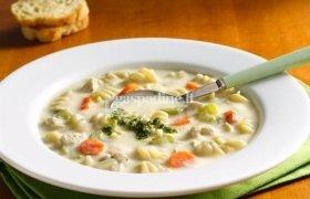 Kreminė vištienos sriuba su makaronais