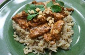 Vištiena su ryžiais ir pikantišku padažu