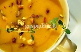 Geltonosios paprikos ir pupelių sriuba