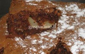 Greitas šokoladinis pyragas su bananais