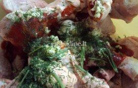 Pikantiškos vištienos blauzdelės