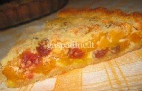 Moliūgų ir sūrio pyragas