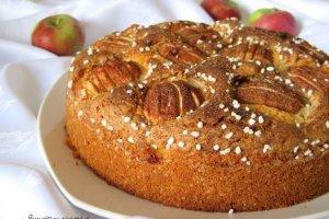 Purus obuolių pyragas su perliniu cukrumi