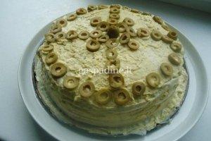 Tortilijų tortas su alyvuogėmis ir kiaušiniais