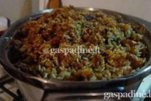 Libanietiškai troškinta triušiena su ryžiais