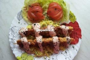 Vištienos ir krevečių vėrinukas
