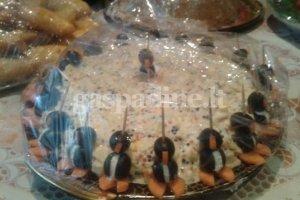 Ikrų mišrainė su pingviniukais