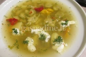 Brokolių kotelių ir paprikų sriuba