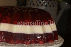Gaivus vyšninis želė tortas