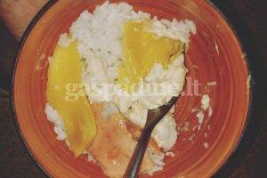 Ryžiai su lašiša ir sūriu