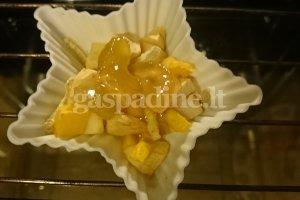 Moliūgo ir obuolių desertas