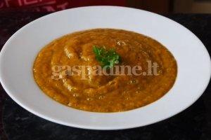 Trinta keptų daržovių sriuba