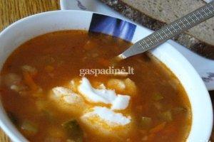 Marinuotų agurkų sriuba