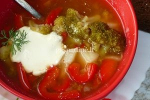 Brokolių ir paprikų sriuba