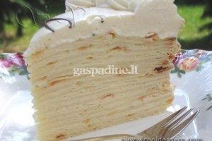 Vaflinis kondensuoto pieno tortas
