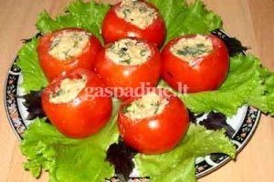Sūriu farširuoti pomidorai