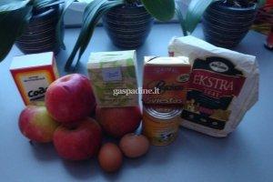 Obuolių pudingas (obuolių pyragas)