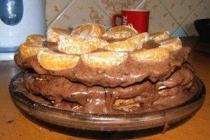 Šokoladinis tortas su graikiškais riešutais