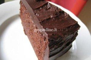 Šokoladinis pyragas su glaistu