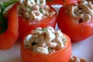Pomidorai su krevetėmis