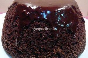 Garuojantis šokoladinis pudingas