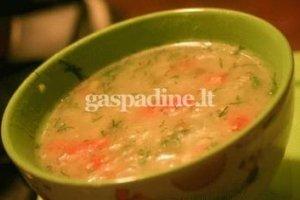 Ryžių sriuba su daržovėmis