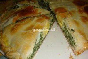 """Argentinietiškas daržovių pyragas """"Pascualina"""""""