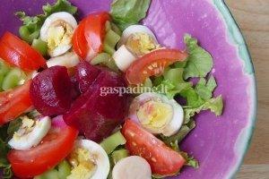 Argentinietiškos daržovių salotos su kiaušiniais