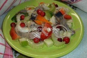 Silkė su daržovėmis ir vaisiais