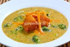 Brokolių ir čederio sūrio sriuba
