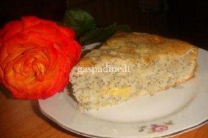 Obuolių pyragas su aguonomis