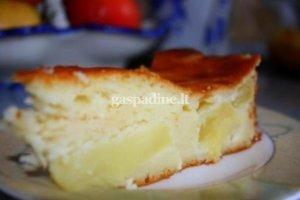 Varškės su obuoliais pyragas